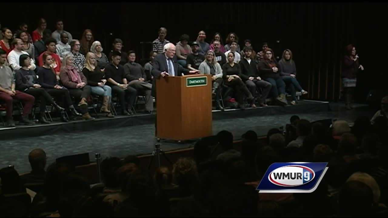 Senator Bernie Sanders hosts a town hall meeting at Dartmouth College in Hanover.