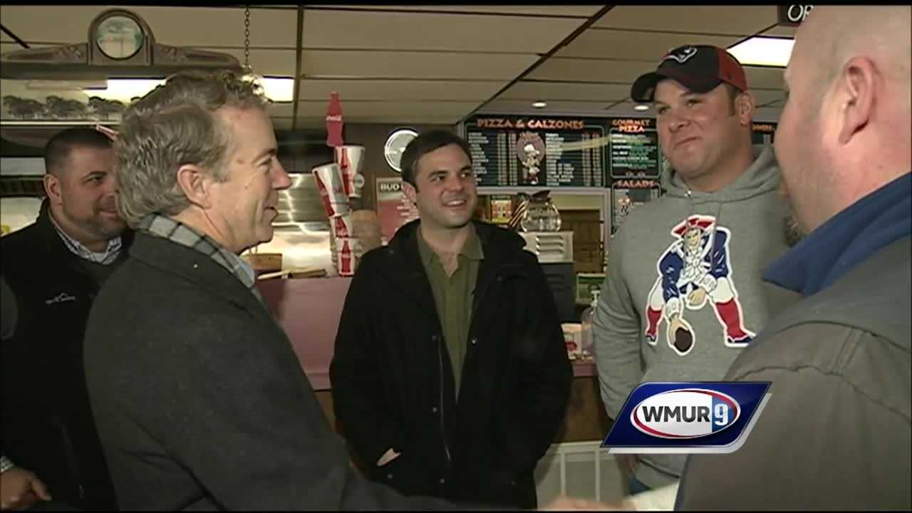 Republican presidential candidate Sen. Rand Paul (R, Kentucky) met with voters across the Granite State.