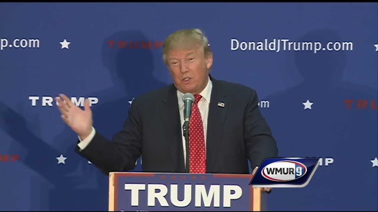 Donald Trump holds rally in Concord