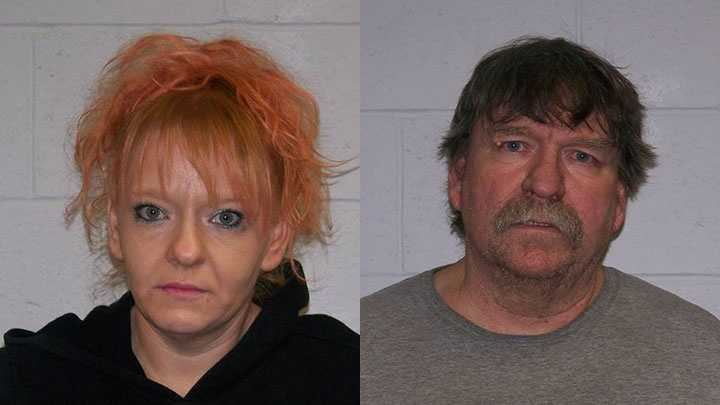 Dawn Lent (left) and Donald Lent (right) were arrested Wednesday on drug charges, according to the New Hampshire State Police.