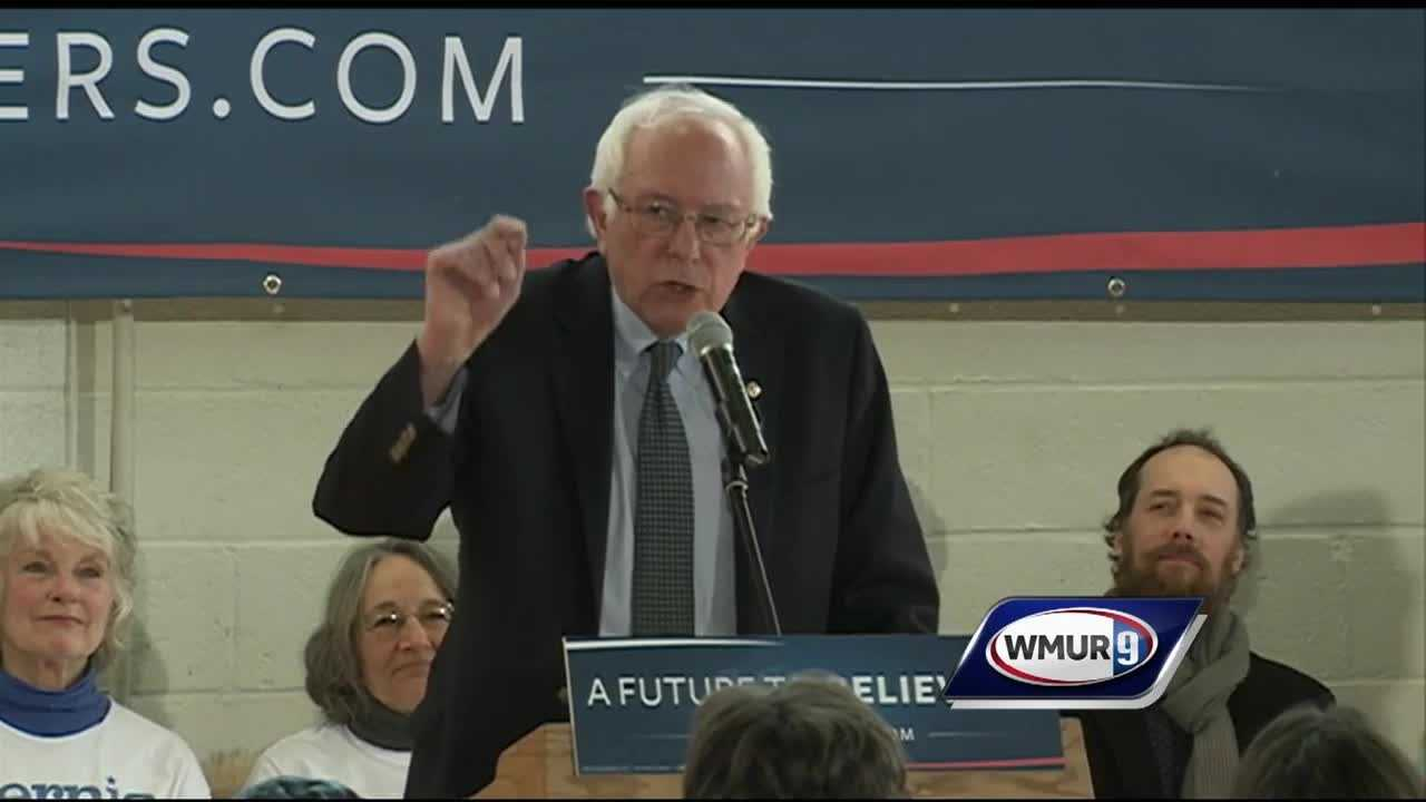 The Democratic front-runner in New Hampshire returned to the state Thursday, holding several events.