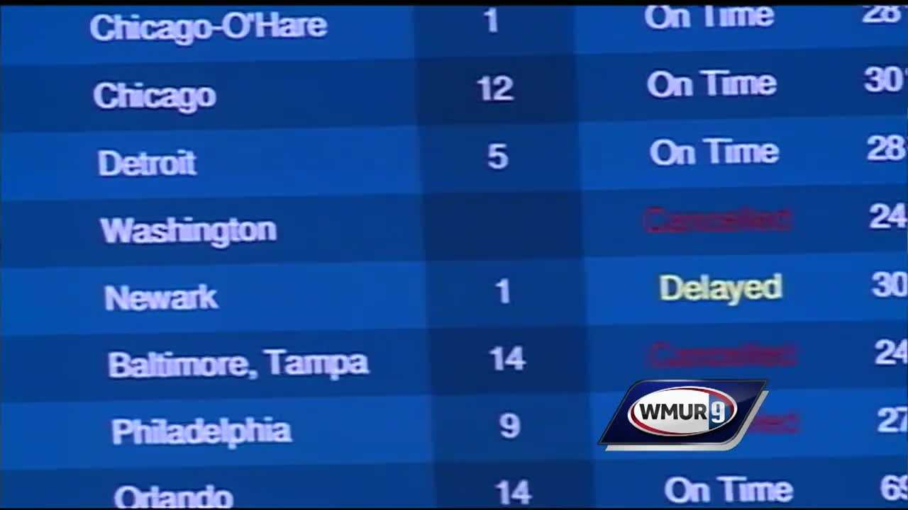 An East Coast winter storm was slowing down travelers Friday, even in areas not directly hit by the storm.