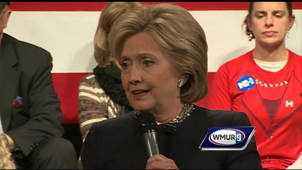 Democratic presidential candidate Hillary Clinton drew big crowds Friday in New Hampshire with less than three weeks before the first-in-the-nation primary.