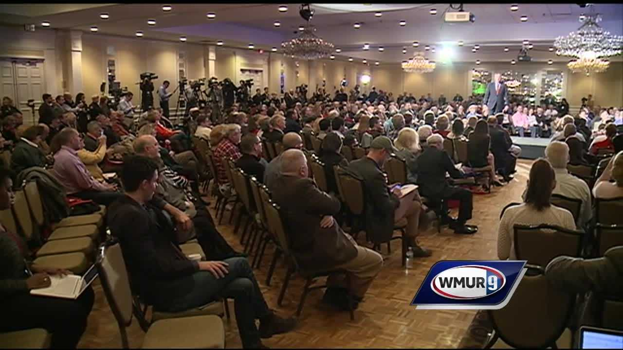 Just more than two weeks before Granite Staters go to the polls on primary day, Hillary Clinton, Bernie Sanders and Donald Trump were the prime targets Saturday of seven Republican presidential candidates who made closing arguments to about 1,000 activists at the state GOP's First-in-the-Nation Town Hall.