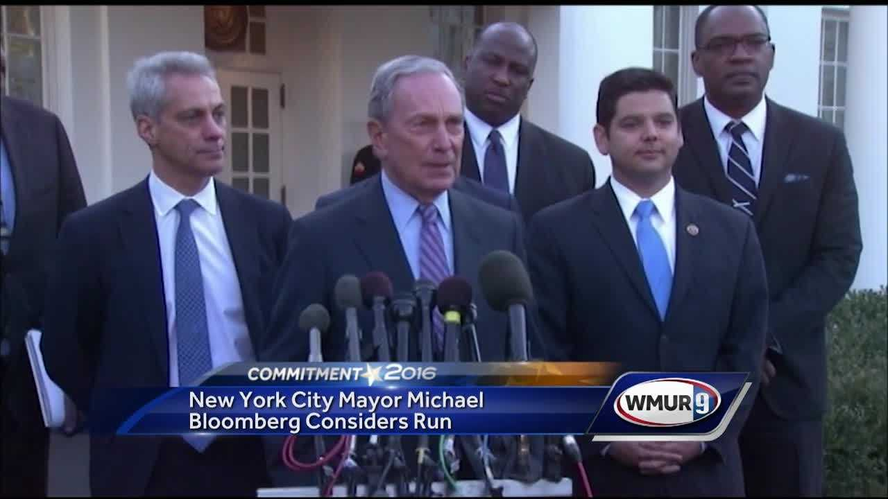 Former New York City Mayor Michael Bloomberg announces he may throw his hat into the ring in the 2016 presidential campaign.