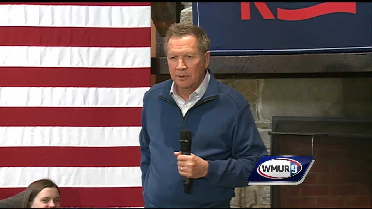 The campaign trail in New Hampshire is quiet, except for Ohio Gov. John Kasich, who held several events Tuesday.