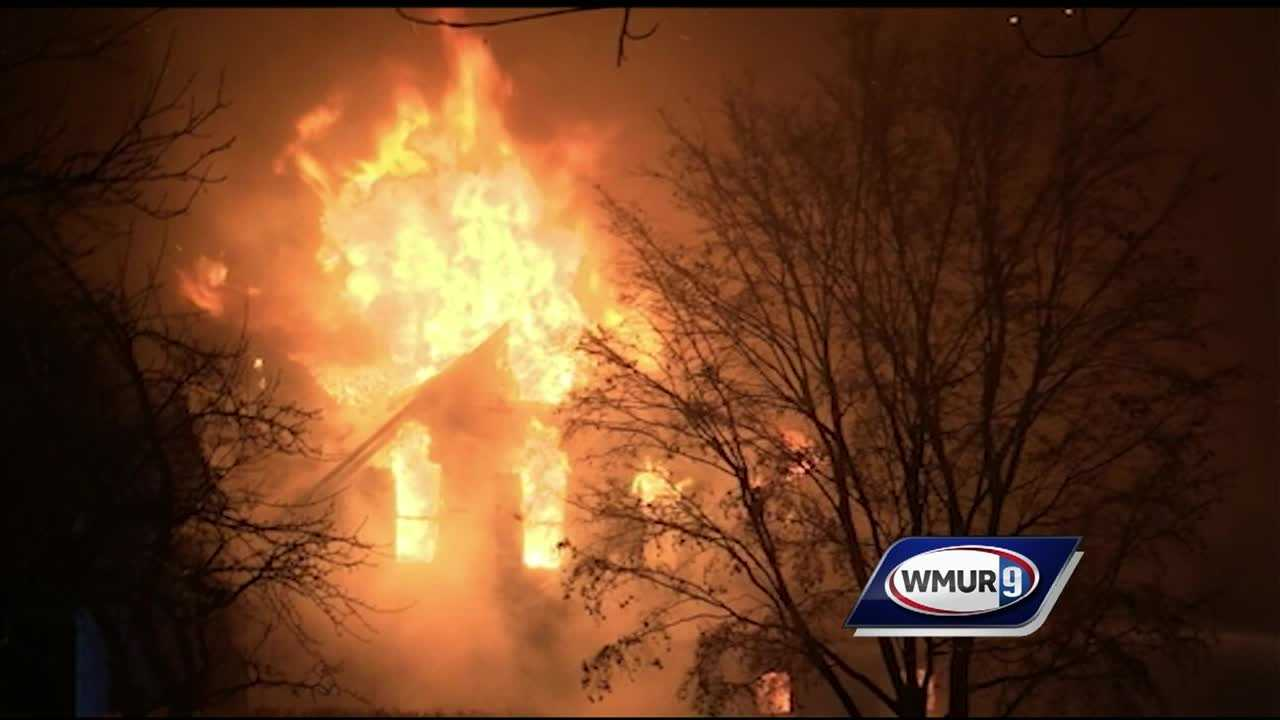 A volunteer firefighter in New Castle had to escape a fire at his own home Saturday night and then work with other firefighters to try to save the historic building.
