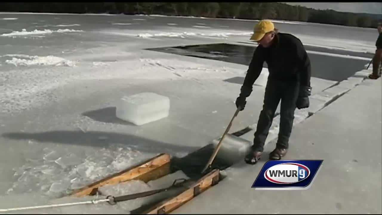 A tradition that's more than 100 years old is underway on Squam Lake, with the beginning of the annual ice harvest.