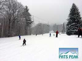 7 tie. Pats Peak Ski Area in Henniker