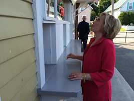 Hillary Clinton marvels at the ice cream selection at the Dairy Twirl in Lebanon on July 3, 2015.
