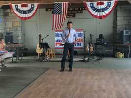 Gov. Bobby Jindal speaks at a gathering of the Merrimack County Republican Committee at Bear Brook State Park in Allenstown on July 5, 2015.