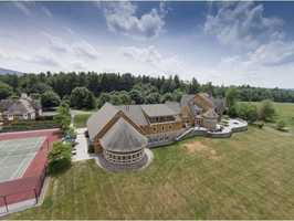 It offers 18,755 square feet of living space atop a 155-acre property.
