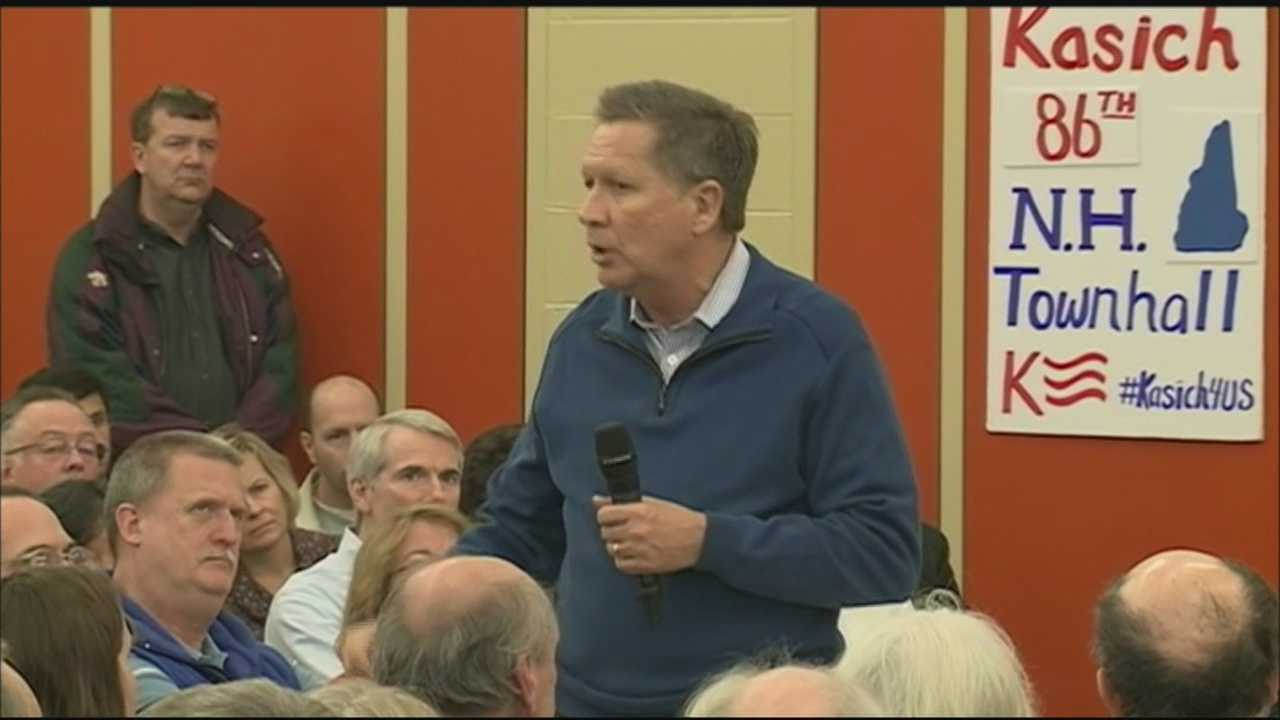 While his fellow Republican presidential candidates are in Iowa, Gov. John Kasich (R, Ohio) is hitting the campaign trail in New Hampshire.