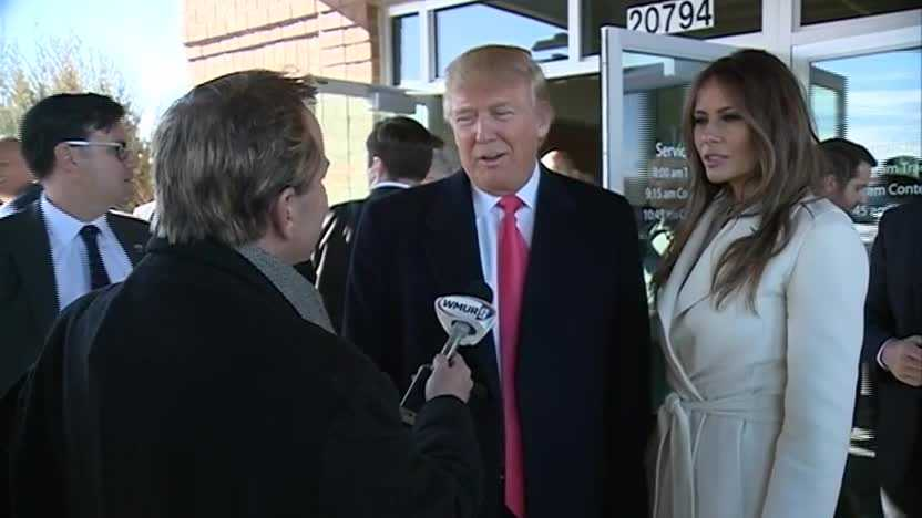 WMUR Political Director Josh McElveen talks one-on-one with Donald Trump.