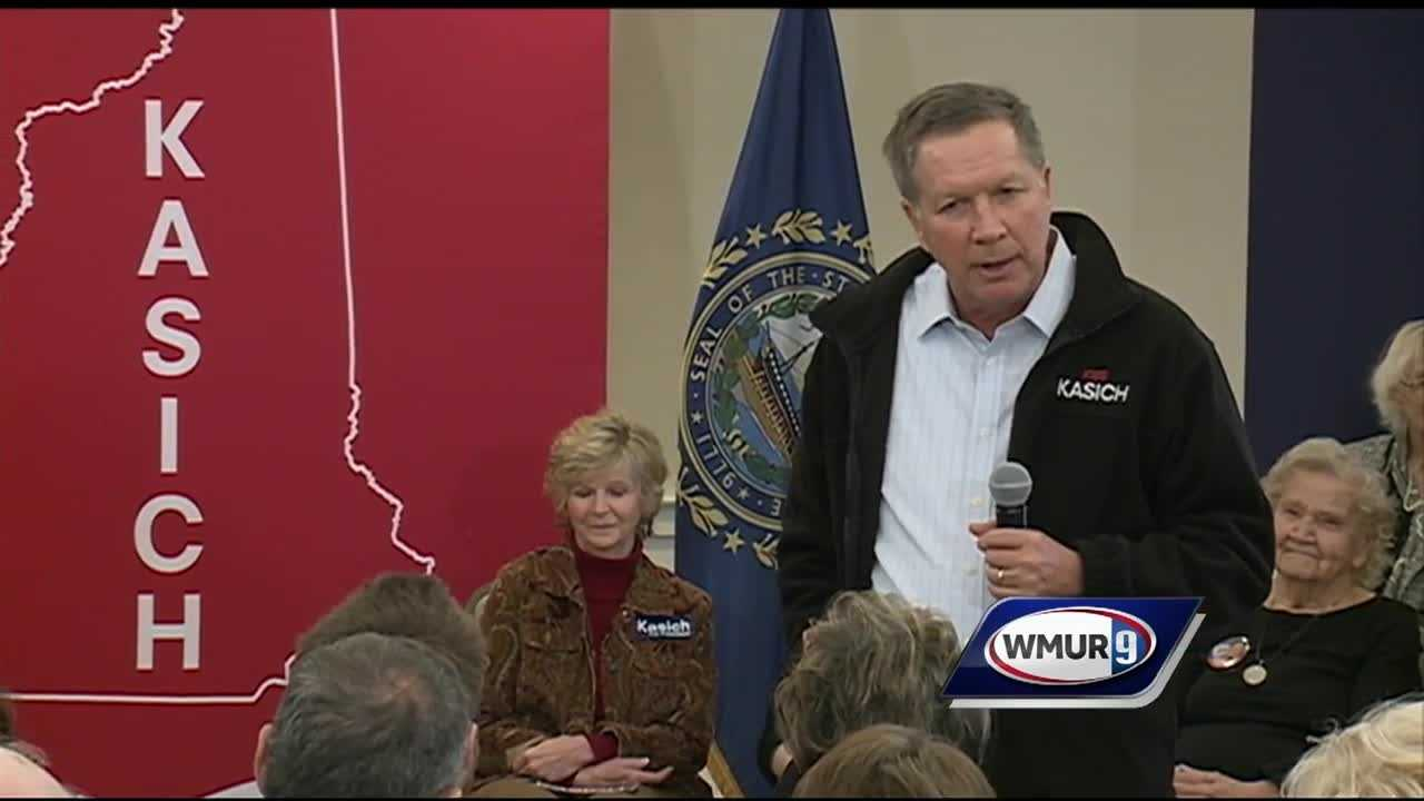 While most presidential candidates were in Iowa for the caucuses on Monday, Ohio Gov. John Kasich held several events in New Hampshire, a state that he calls crucial to his campaign's success.