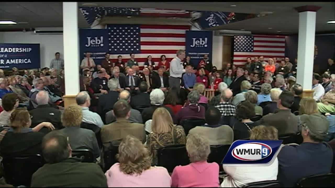 Bush and Christie arrived in New Hampshire before the other GOP candidates in Iowa. Kasich, who was already here, continued spreading his message as well.