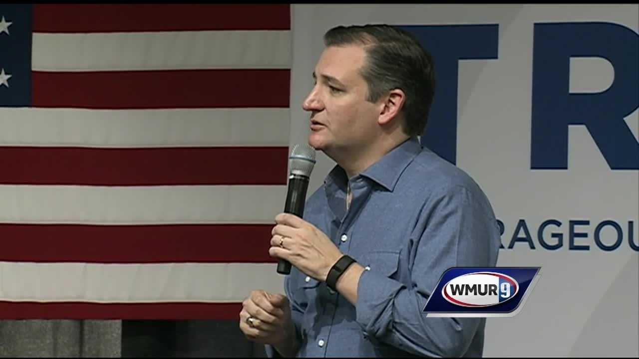 A large, enthusiastic crowd greeted U.S. Sen. Ted Cruz in Windham on Tuesday, fresh off his victory in the Iowa caucuses.