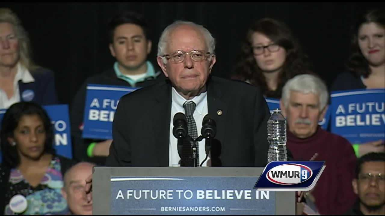 Sanders calls his narrow defeat in Iowa an important step in his campaign but also voices concerns over the cauceses results.