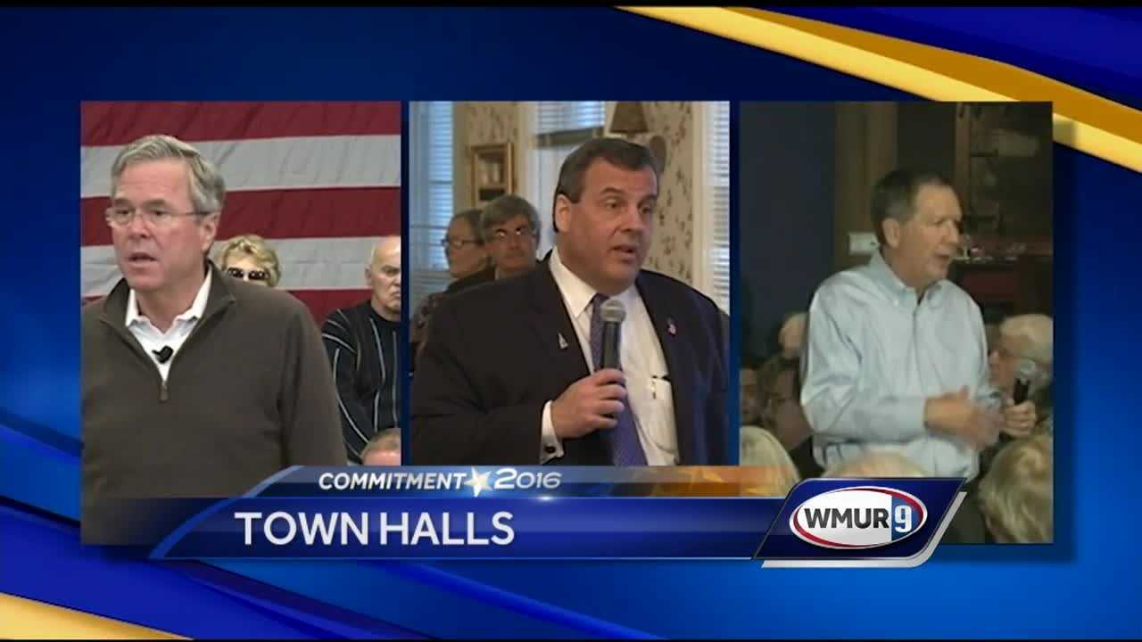 Three Republican presidential hopefuls trying to break out from a pretty large pack were campaigning hard Wednesday in the Granite State.