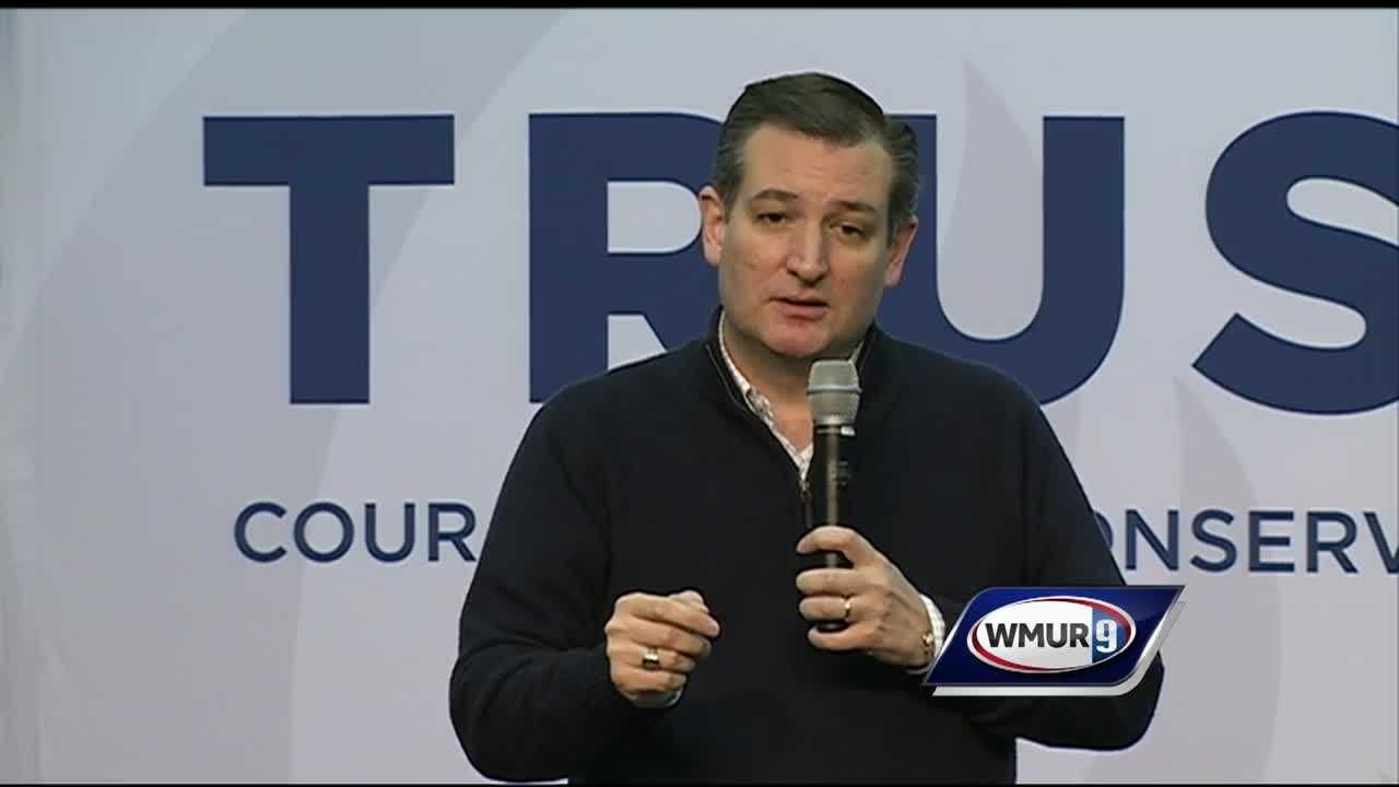 Republican presidential candidate U.S. Sen. Ted Cruz attacked Donald Trump and the media while he campaigned Wednesday in New Hampshire.