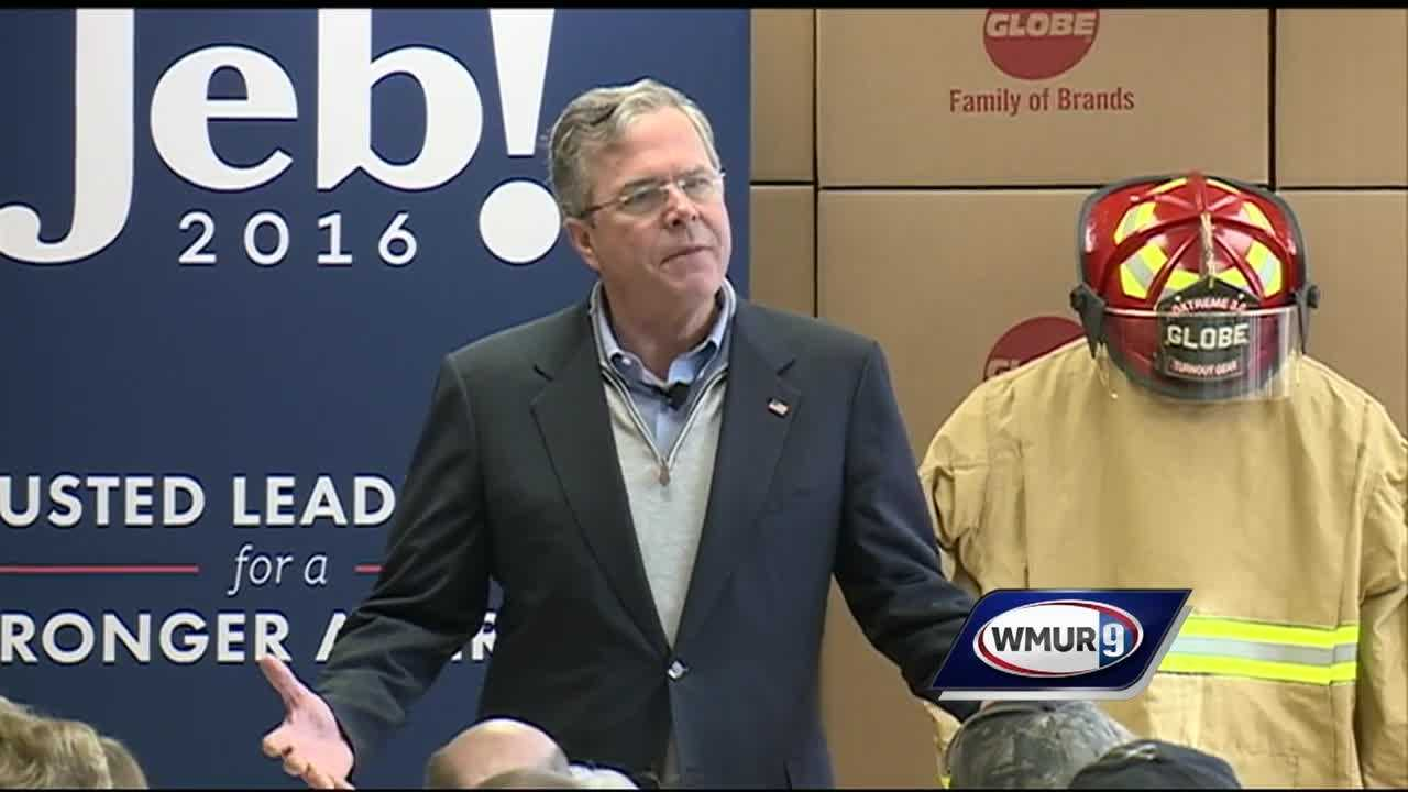 Republican presidential candidates New Jersey Gov. Chris Christie, Ohio Gov. John Kasich and former Florida Gov. Jeb Bush campaigned Thursday in New Hampshire as they tried to draw distinctions between themselves and their rivals.