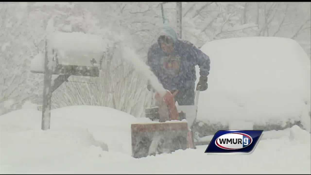 Some cities and towns in New Hampshire have declared snow emergencies after a storm dumped several inches of snow in the southeastern part of the state.