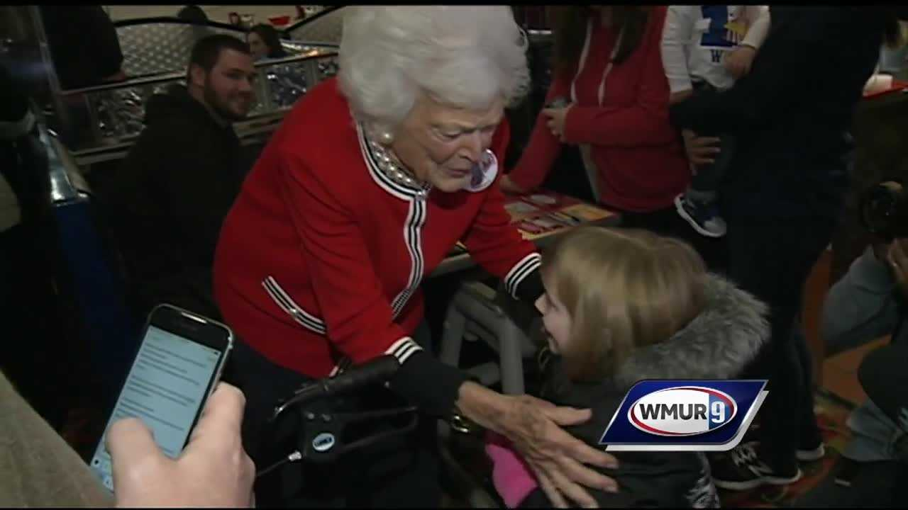 Former Florida Gov. Jeb Bush was joined on the New Hampshire campaign trail Friday by his mother.