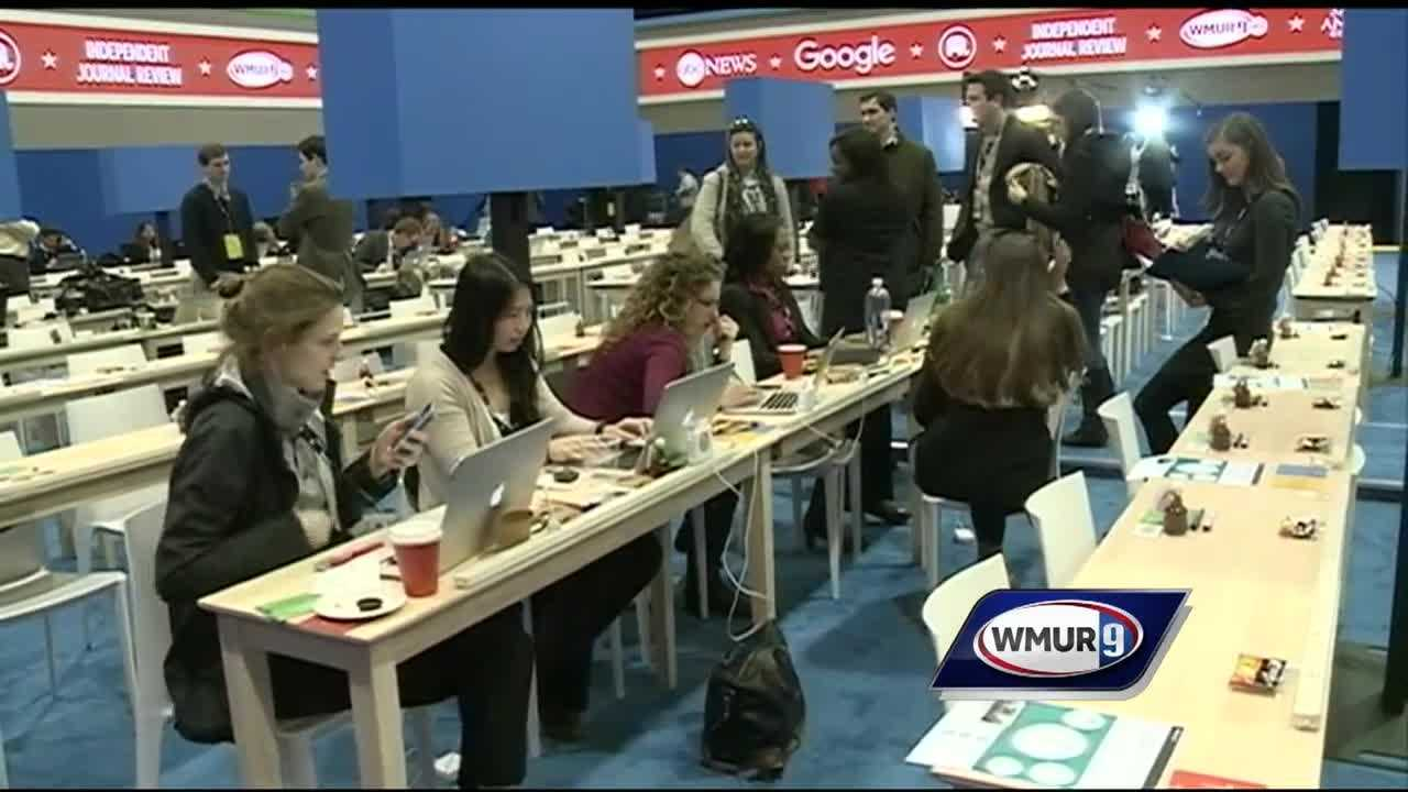 Media from around the world were in New Hampshire on Saturday to cover the last Republican debate before Tuesday's primary.