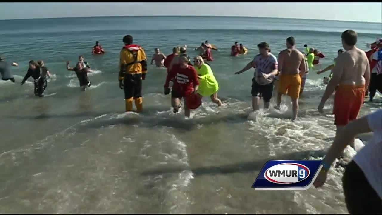 The Penguin Plunge raised money for the Special Olympics on Super Bowl Sunday.