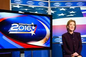 Former Hewlett-Packard CEO Carly Fiorina came to WMUR to deliver his final pitch to voters before the first-in-the-nation primary.