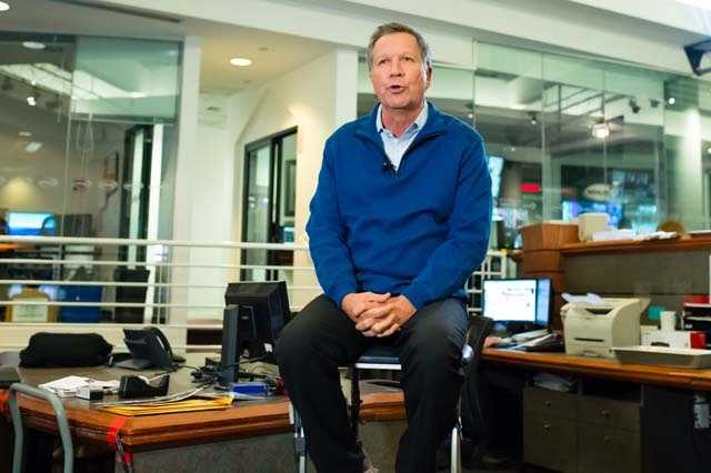 Ohio Gov. John Kasich came to WMUR to deliver his final pitch to voters before the first-in-the-nation primary.