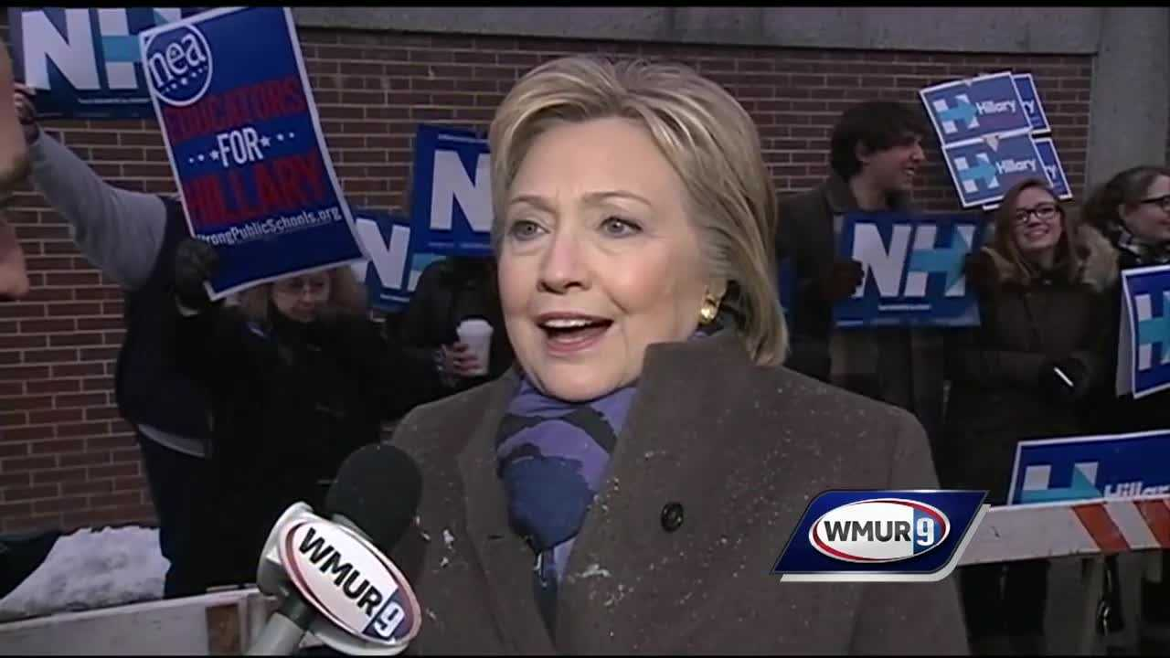 In an exclusive one-on-one interview with News 9's Mike Cronin outside Parker Varney School in Manchester, Democratic presidential candidate Hillary Clinton says she respects New Hampshire voters and the role they play in the election.