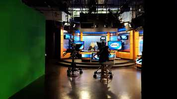 Here's a wider view of our studio during live coverage of the NH Primary.