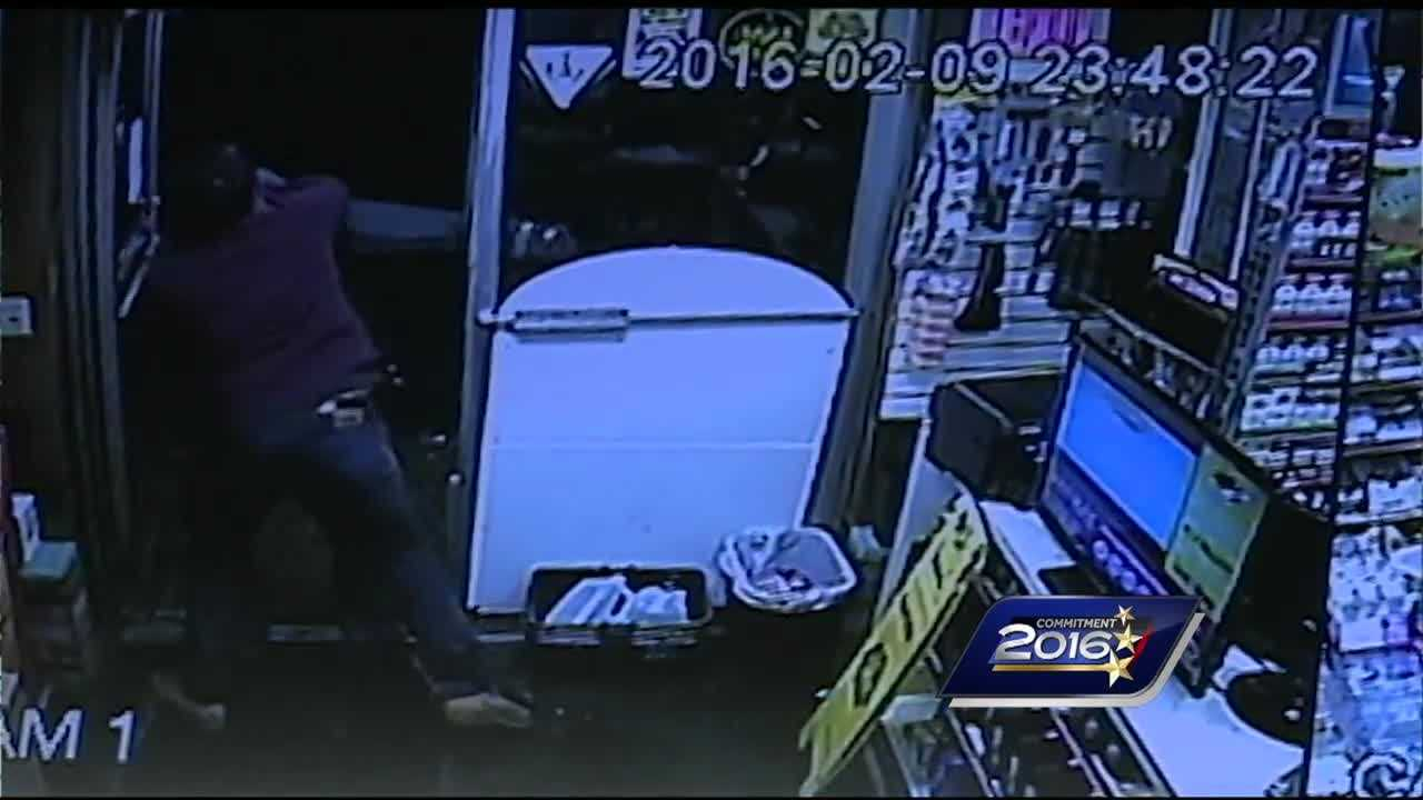 A convenience store clerk in Manchester decided to fight back Tuesday night when faced with a robber who appeared to be armed.