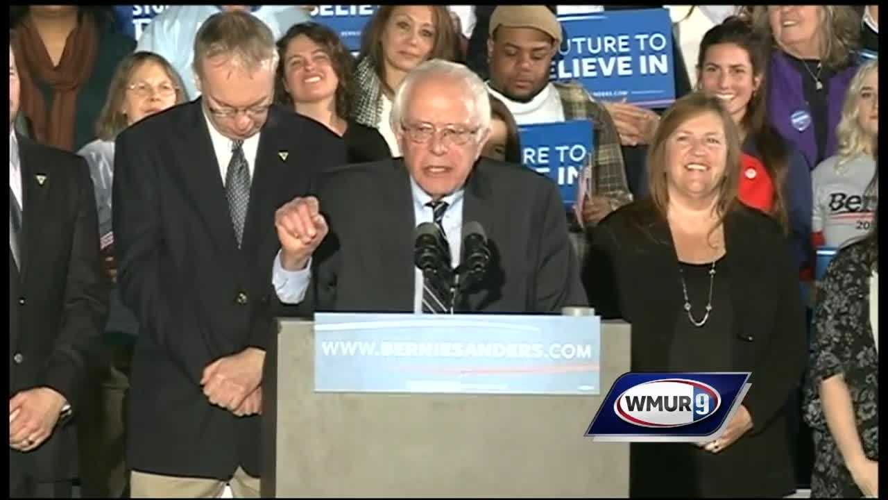 Democratic presidential candidate Bernie Sanders dominates New Hampshire primary&#x3B; Clinton pushes on.