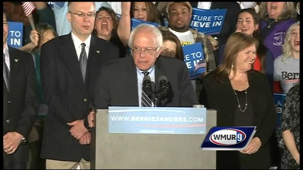 New Hampshire voters chose two candidates who are well outside the party establishment in Tuesday's presidential primary.