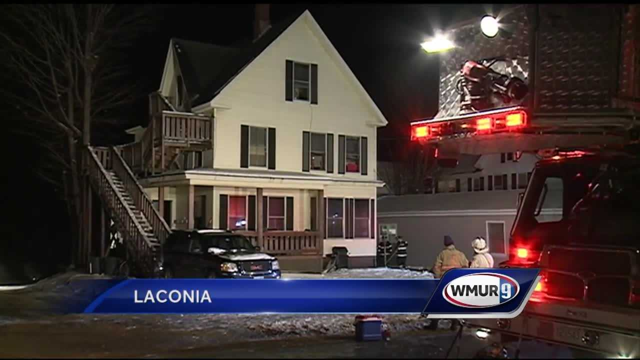 Nine people were displaced after a fire in Laconia.