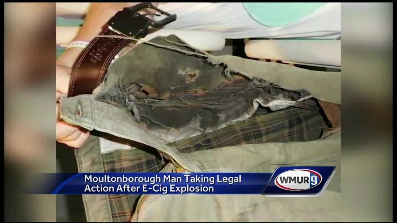 A Moltonborough man is suing the maker and vendor of an e-cigarette that exploded in his pocket.