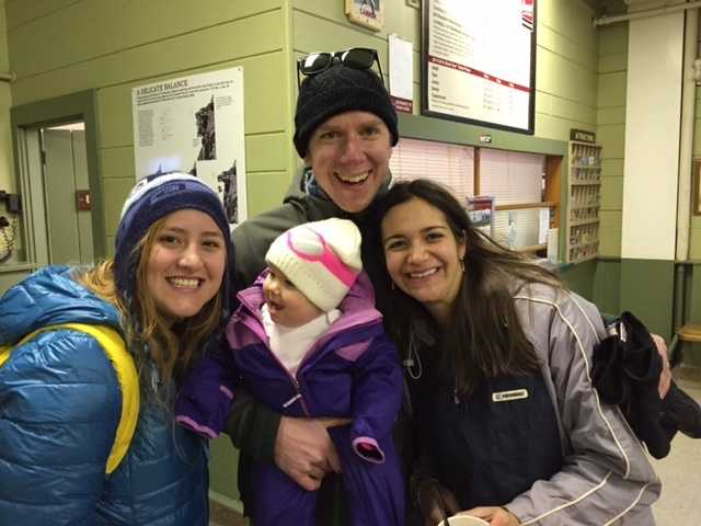 George and Sabrina Lewis, along with their au pair, Paula, and their 8-month-old daughter Remy, were there to sightsee rather than to ski. The family was among the first to be evacuated from the car.