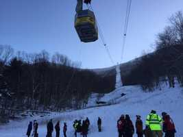 """Escape Outside editor Paula Tracy was on board one of the tram cars that got stuck. She said everyone was very calm and that people did not panic, although """"there was a little bit of screaming."""""""