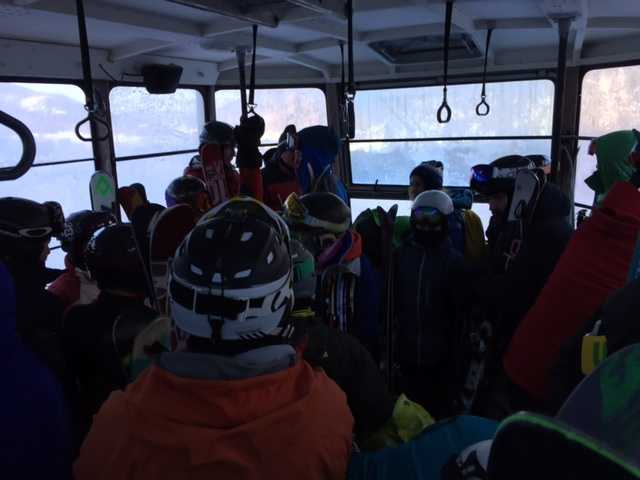 """Escape Outside editor Paula Tracy was on board one of the tram cars that got stuck.she said, It was a bit harrowing, especially to be lowered from the floor of the tram on a cable."""""""