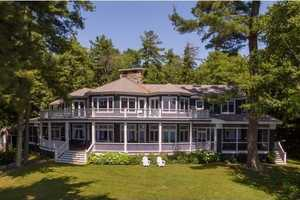 This lake house on Hopewell Shores in Wolfeboro is listed at $5,250,000.