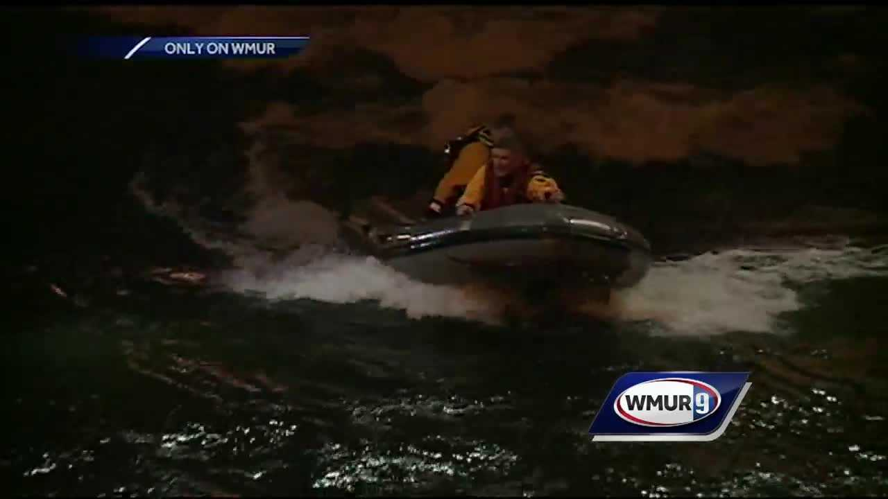 First responders pulled off a dramatic rescue when they saved a woman from freezing and drowning in the Merrimack river.