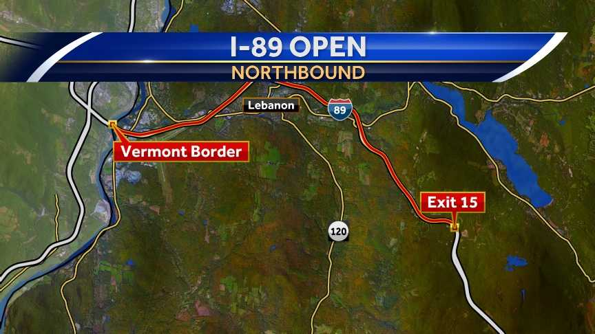 A section of Interstate 89 is back open after several vehicles crashed causing the interstate to be shut down for some time.