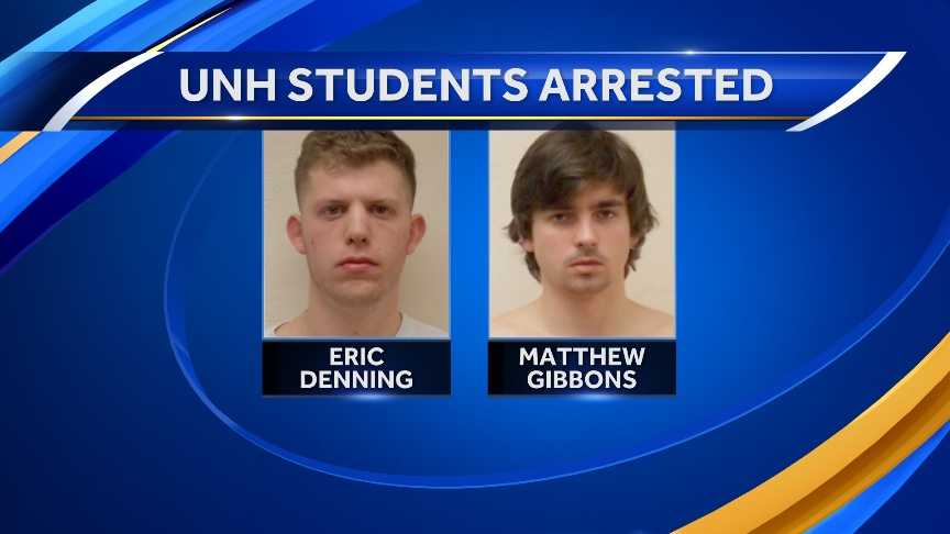 Eric Denning and Matthew Gibbons were arrested in Durham in connection to a stabbing on Madbury Rd.