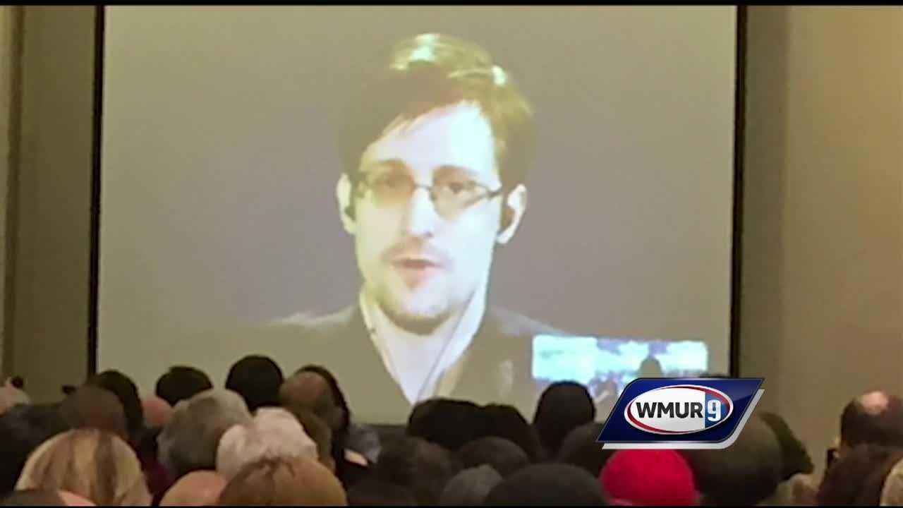 Edward Snowden delivers keynote speech for Manchester forum