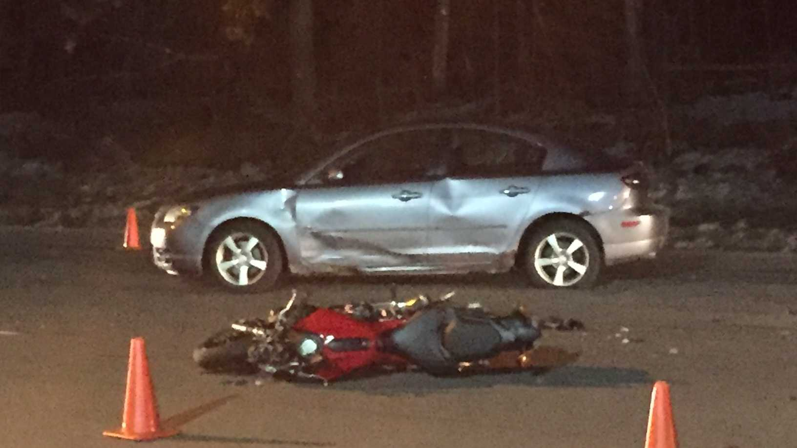 One man is in the hospital Saturday after a serious crash on North Broadway in Salem.