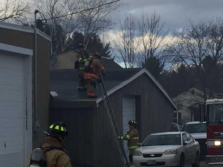 Around 3:30 p.m., firefighters were also inspecting a building on the northeast corner of the intersection.