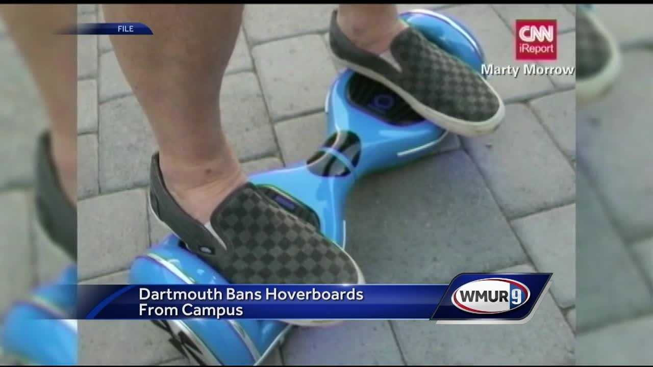 Dartmouth College is the latest school to tell its students to leave their hoverboards at home.