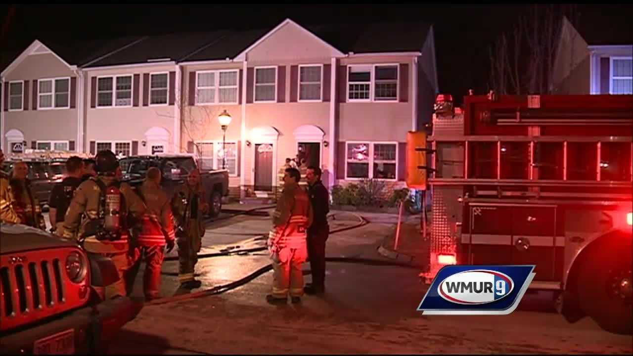 A sprinkler system quickly put out a fire in Manchester Sunday evening.